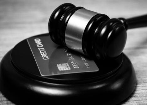Privacy Class Action Image Gavel with Credit Card